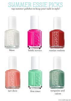 Style Cusp: Top Essie Polishes for Summer