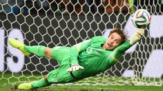 Tim Krul of Netherlands was the penalty hero in their victory over Costa Rica in the quarter finals.