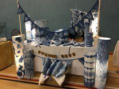 Craft Stalls, Textiles, Tye Dye, Shibori, Thesis, Dyes, Lana, Indigo, Display