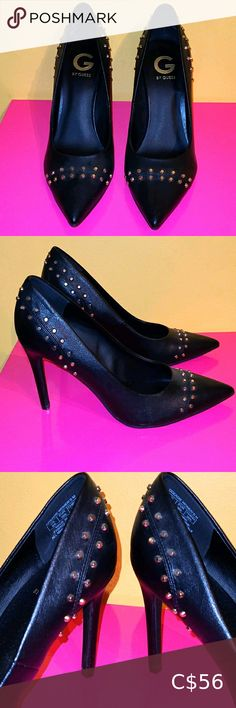 Check out this listing I just found on Poshmark: ♥ Featured! G by Guess Black Stilettos! NWOT ♥. #shopmycloset #poshmark #shopping #style #pinitforlater #G by Guess #Shoes Plus Fashion, Fashion Tips, Fashion Design, Fashion Trends, Black Stilettos, Guess Shoes, Gold Studs, Stylists, Toe