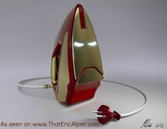 Photo: Iron Man Iron. I want this. I'd even do the laundry. Maybe.