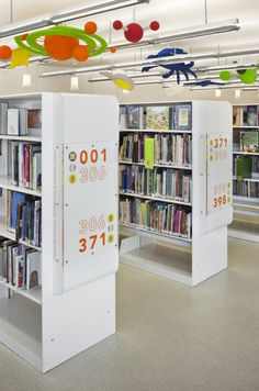 Finding the perfect home library furniture Public Library Design, Library Signage, School Library Design, Kids Library, Public Libraries, Library Ideas, Library Games, Elementary Library, Library Books
