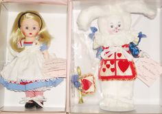 "MADAME ALEXANDER "" SET OF 2 DOLLS"" ALICE IN WONDERLAND"