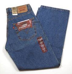 "Mens Levis Loose Straight 569 Denim Color 4550 Med Blue Size 30"" x 30"" New #Levis #LooseStraight"