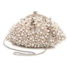 Santi Imitation Pearl Clutch - Ivory