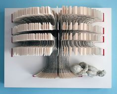 Book sculpture by Daniel Lai