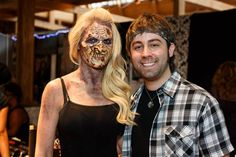 Face Off Season 4 Champion and Chicago native J. Anthony Kosar with his Zombie Creation at #TMSChi