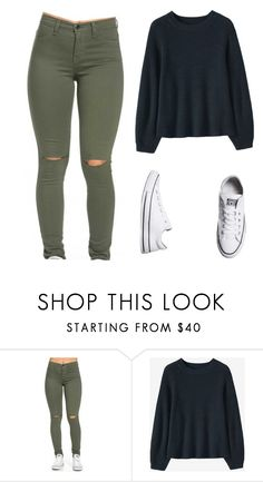 """""""Untitled #5"""" by abernabe15 ❤ liked on Polyvore featuring Converse"""