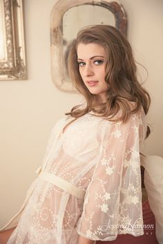 Lace Robe Bridal Robe Bridal Lingerie by TheEnchantedTour on Etsy, $125.00