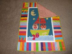 The Owl and the Pussy Cat baby quilt
