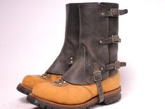 Vintage Steam Punk Leather Spats D by MetropolisNYCVintage on Etsy. , via Etsy.