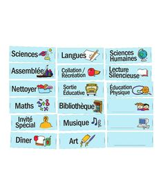 Entirely in French and made specifically for classroom use, this magnet set helps visually establish a routine so students can see what's happening that day. Classroom Routines, A Classroom, Classroom Organization, Class Routine, Early French, French Classroom, French Immersion, Dry Erase Markers, France