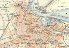 1890's Amsterdam city map