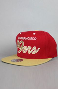 20fd137dbe4 San Francisco 49ers Snapback Hat (Script)(Red Gld) by 123SNAPBACKS San
