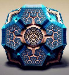 "Spectacular Fabergé Fractals by Tom Beddard(2) - My Modern Metropolis---苏格兰艺术家Tom Beddard曾是一名物理学家,现在转做艺术家和网站开发专家。Fabergé Fractals是他的""分形艺术""作品,这些作品就像Fabergé egg一样,图案异常复杂对称,是艺术家通过计算机软件计算分析组合而成的作品。"