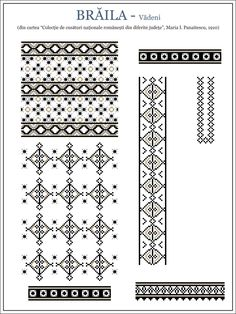 Reproducerea digitală a modelului din albumul Mariei Panaitescu Cross Stitch Borders, Cross Stitching, Cross Stitch Patterns, Crochet Patterns, Embroidery Motifs, Learn Embroidery, Machine Embroidery, Antique Quilts, Embroidery Techniques