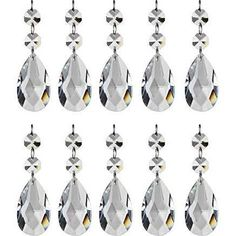 highrock teardrop chandelier crystal pack of 10 a clean cloth