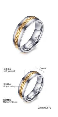 [Visit to Buy] SIZZZ 100% Titanium Ring for Women Jewelry Female Wedding Band Ring #Advertisement