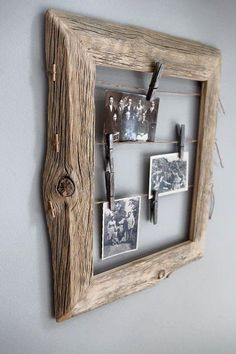 Old Wood Crafts Tips Ideas Old Wood Crafts, Diy Casa, Reclaimed Wood Projects, Photo On Wood, Photo Displays, Wood Design, Wood Furniture, Furniture Design, Wood Art