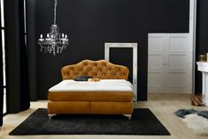 Boxspringbett 180 x 200 cm YASMIN H2 curry » Mega Möbel Curry, Lounge, Couch, Design, Furniture, Home Decor, Chair, Decorations, Airport Lounge