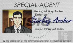 I created this Sterling Archer name badge for a friend for our mid-season costume party this year.
