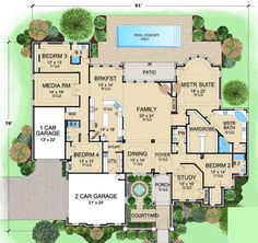 If I ever win the lotto....here's an amazing house layout to include aging parents.
