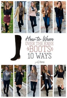 Wear Black Over the Knee Boots – Just Posted Ways to Wear Black Over the Knee Boots – Just Posted Ropa de invierno Wearing Boots with Jeans Fall Winter Outfits, Autumn Winter Fashion, Fall Fashion, Style Fashion, Fashion Ideas, Fashion Shoes, Fashion Dresses, Fashion Trends, Mode Outfits