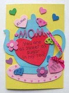 tarjetas hechas mano artisticas bonitas dia de la madre - Buscar con Google
