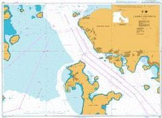 British Admiralty Nautical Chart 4121: Lamma Channels