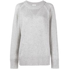 CHLOÉ Cashmere Sweater ($1,090) ❤ liked on Polyvore featuring tops, sweaters, grey, ribbed sweater, grey cashmere sweater, gray cashmere sweater, grey sweater and chloe top
