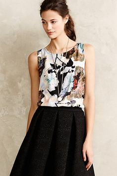So pretty!  Especially the keyhole back.  Carica Tank #anthropologie