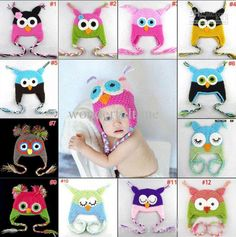 Wholesale Children's Caps & Hats - Buy New Fashion Hot Newborn Baby Girl Boys Toddler Cute Owls Animal Crochet Handmade Knitted Crochet Beanie Hat Cap $4.99 | DHgate