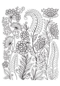 Mindfulness Coloring Pages - 12 Flowers Coloring Pages Nature, Free Adult Coloring Pages, Flower Coloring Pages, Coloring Book Pages, Coloring Sheets, Mindfulness Colouring, Fabric Paint Designs, Folk Embroidery, Zen Art