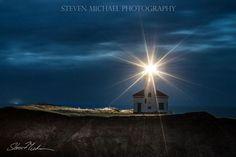 Cape Arago Lighthouse, Oregon coast ~ Photo by Steven Michael Photography Lighthouses In Oregon, Oregon Coast, Timeline Photos, Newport, Wind Turbine, Cape, Cities, Waterfall, Wildlife