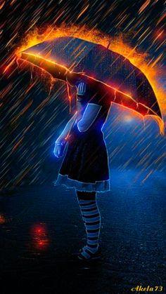 Noche electrectrica y lluviosa