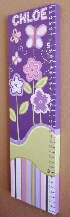 Sugar Plum Purple Growth Chart 12x36 inches by MurrayDesignShop, $115.00