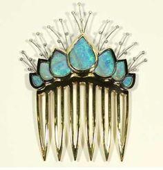 opal hair comb