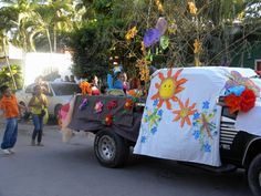 Spring Parade, Easter time in San Pancho, Mexico.