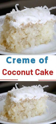 Creme of Coconut Cake I'm going to confess that at some point in my life I was addicted to coconut. There is a good reason why vegans love coconuts, they are so versatile and is a great healthy alternative to a lot of fats used in cooking and baking. Köstliche Desserts, Healthy Dessert Recipes, Gourmet Recipes, Easy Cake Recipes, Food Cakes, Cupcake Cakes, Cupcakes, Coconut Recipes, Best Ever Coconut Cake Recipe