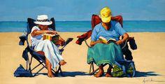 """Palmetto Dunes Book Club"" original fine art by Karin Jurick"