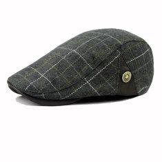 Мужчины мужской полушерстяные Газетчик береты крышка сетки пустой толстый плоский ковбойской шляпе таксиста