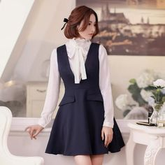 Korean Style - Slim V-neck vest dress - AddOneClothing - 7