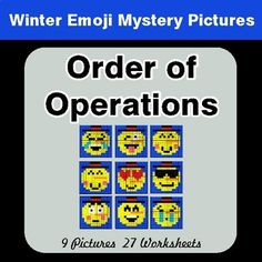 Winter Math: Adding Decimals - Color-By-Number Math Mystery Pictures Emoji Numbers, Adding Decimals, Math Coloring Worksheets, Emoji Coloring Pages, Algebraic Expressions, Order Of Operations, Math Fractions, Addition And Subtraction