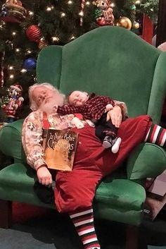 Este Papai Noel se recusou a acordar um bebê e tirou as fotos mais fofas #patrickborgenmd