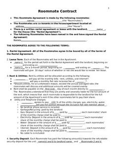 Roommate Sublet Agreement Template  Invitation Templates