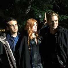 Another set picture of Clary, Jace and Simon