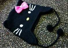 Black Hello Kitty Beanie