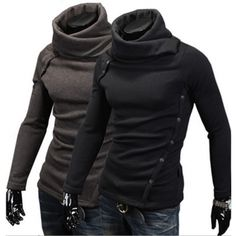 US$ 21,87+ free shipping! Elegante Cuello alto Sudadera con capucha Sudadera con capucha Escudo Top Para Hombres Niños