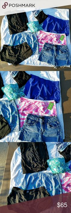 Size S Bottoms Bundle 8 item size S bundle. ~~~~~ -1 pair of lounge pants -1 pair of jean shorts -1 pair of linen shorts -1 pair of athletic shorts  -1 pair of yoga pants  -1 maxi skirt (middle of picture) -2 mini skirts  (1 NWT) ~~~~~ Brands include: BDG, Lilly Pulitzer, IB, Banana Republic, Wet Seal, Forever 21, Old Navy, Hollister. ~~~~~ To see more info/pictures for each item, please check individual item listings on my page. I can make any bundle for you, so if you would like to make a…