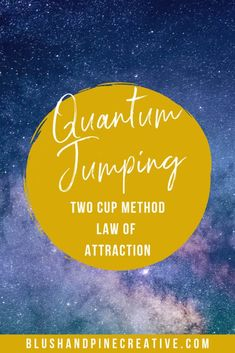 Learn about how to use the two cup method to use the law of attraction. The two cup method is a method you can use for quantum jumping to the life you want. Manifestation Law Of Attraction, Law Of Attraction Affirmations, Life Questions, This Or That Questions, Jump Quotes, Law Of Attraction Love, Attraction Quotes, Hating Your Job, Quantum Leap